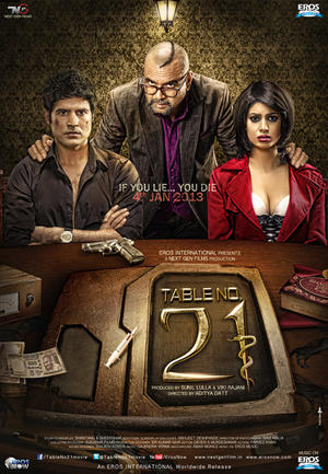 "Poster art for ""Table No. 21."""