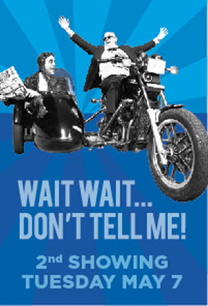 "Poster art for ""Wait, Wait... Don't Tell Me!"""