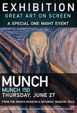 """Poster art for """"Exhibition: Munch 150."""""""
