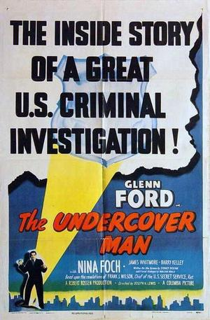 "Poster art for ""The Undercover Man."""