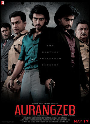 "Poster art for ""Aurangzeb."""