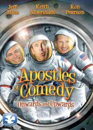 "Poster art for ""Apostles of Comedy."""