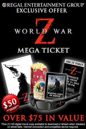 "Poster art for ""World War Z Mega Ticket."""