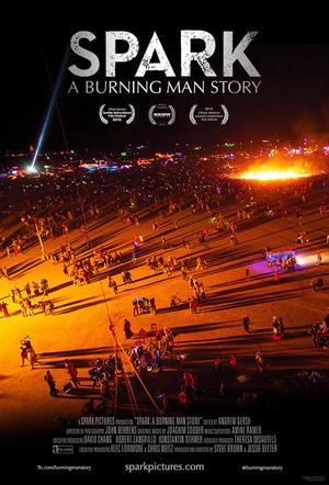 "Poster art for ""Spark: A Burning Man Story."""
