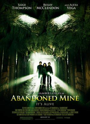 """Poster art for """"Abandoned Mine."""""""