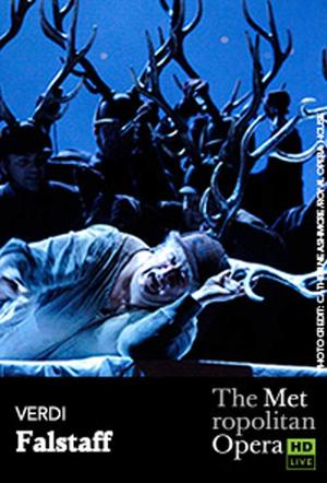 "Poster art for ""The Metropolitan Opera: Falstaff."""