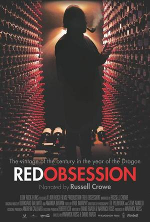 """Poster art for """"Red Obsession."""""""