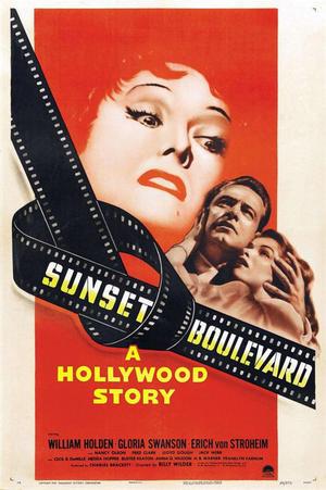"""Poster art for """"The Corner/Sunset Blvd."""""""