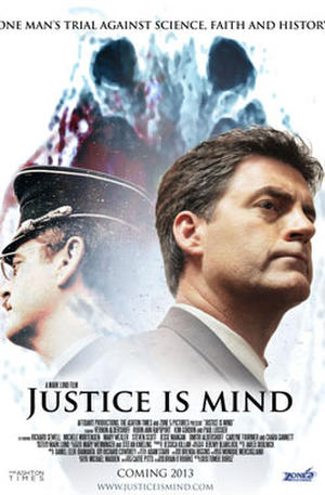 "Poster art for ""Justice Is Mind."""