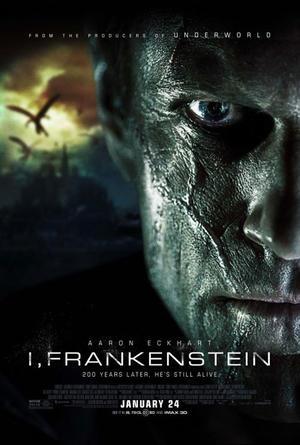 """Poster art for """"I, Frankenstein 3D."""""""