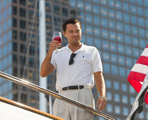 "Leonardo DiCaprio in ""The Wolf of Wall Street."""