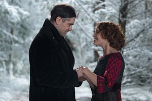 """Colin Farrell as Peter Lake and Jessica Brown Findlay as Beverly Penn in """"The Winter's Tale."""""""
