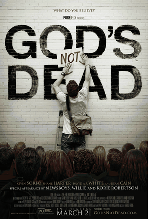 "Poster art for ""God's Not Dead."""