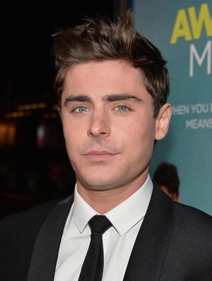 "Zac Efron at the California premiere of ""That Awkward Moment."""