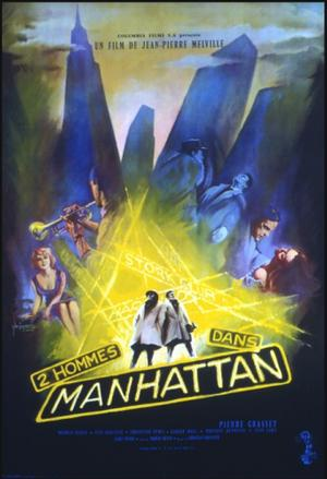 """Poster art for """"Two Men In Manhattan."""""""