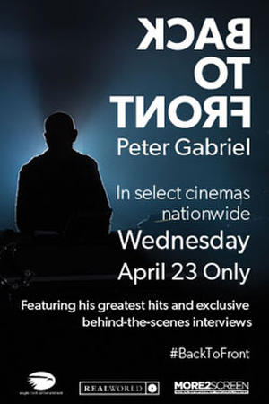 """Poster art for """"Back to Front: Peter Gabriel"""""""