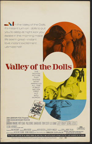 "Poster art for ""Valley of the Dolls."""
