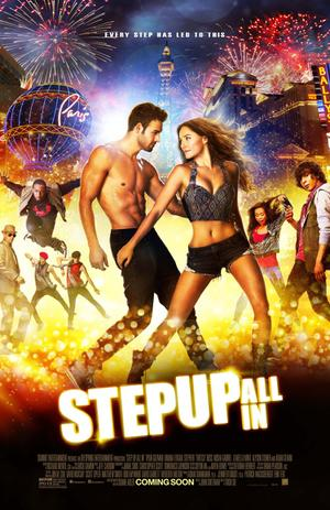 """Poster art for """"Step Up All In 3D."""""""