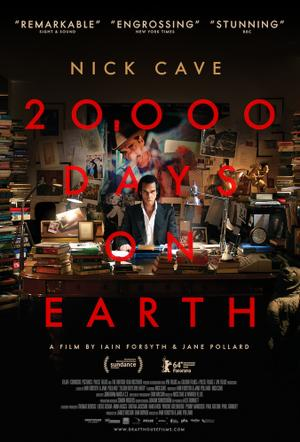 "Poster art for ""20,000 Days on Earth."""
