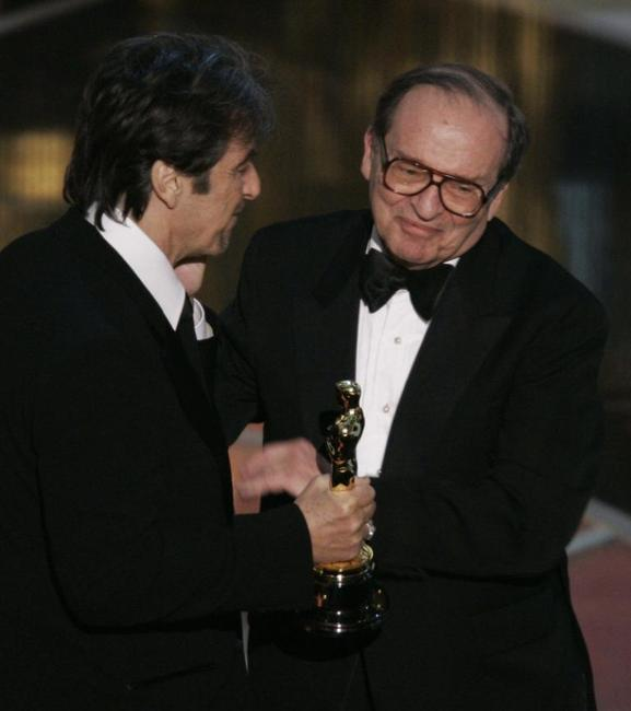 Sidney Lumet and Al Pacino at the Kodak Theater in Hollywood for the 77th Academy Awards.
