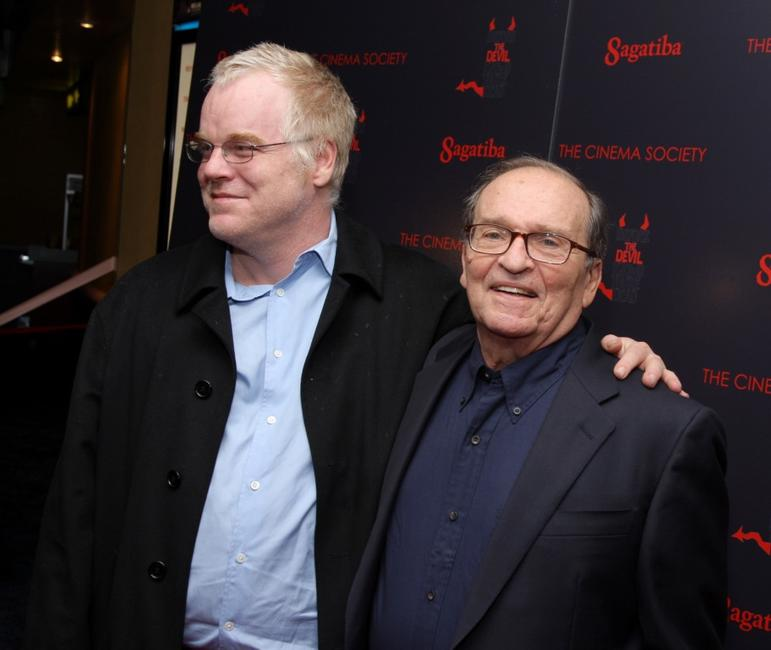 Sidney Lumet and Philip Seymour Hoffman at the New York premiere of