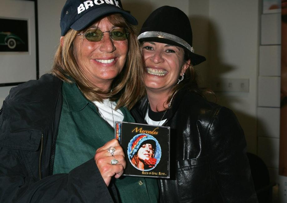 Penny Marshall and Mercedes at Peterson Automotive Museum at Mercedes Music for the 2006 Diamond Lounge By Nathalie Dubois in the Penthouse.