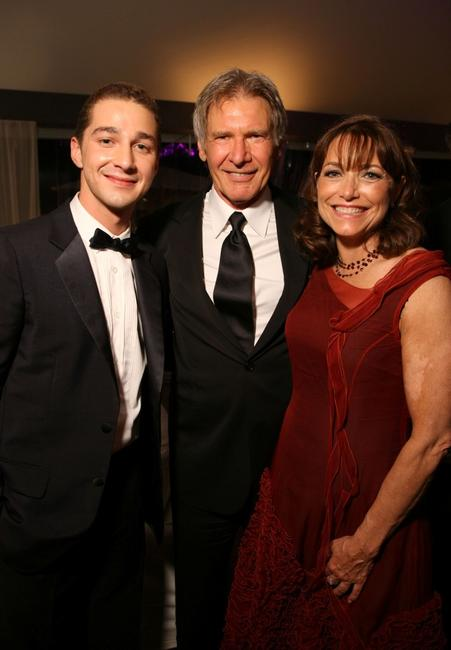 Shia LaBeouf, Harrison Ford and Karen Allen at the