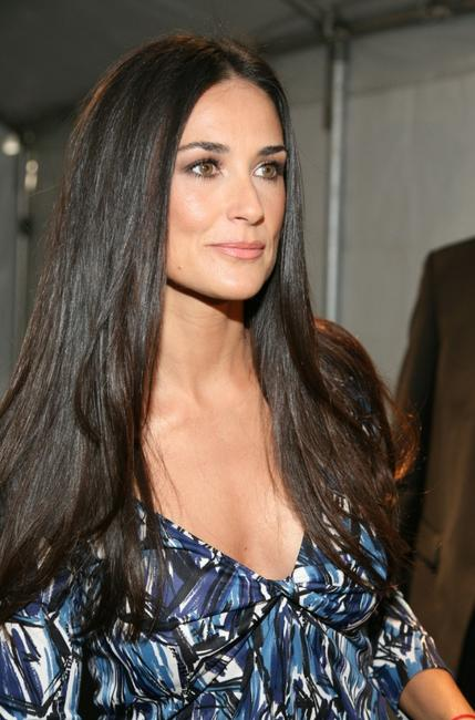 Demi Moore at the Miss Sixty Spring 2008 Fashion Show during the Mercedes-Benz Fashion Week Spring 2008.