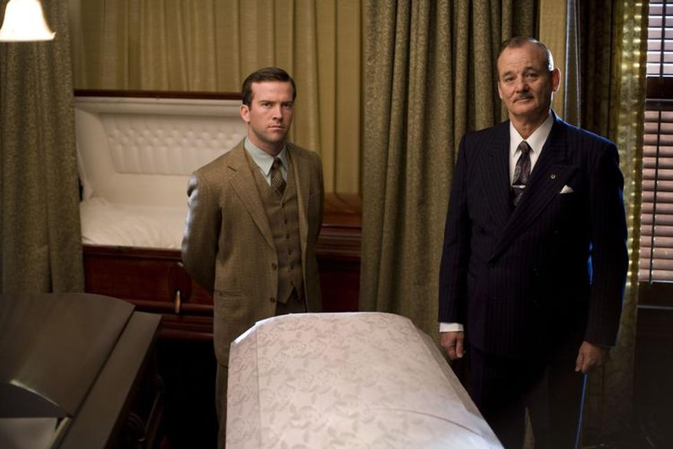 Lucas Black as Buddy and Bill Murray as Frank Quinn in