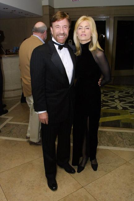 Chuck Norris and Gena Norris at the dinner to salute Chuck Norris for his