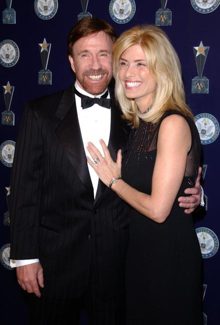 Chuck Norris and Gena Norris at the 7th Annual American Veteran Awards.
