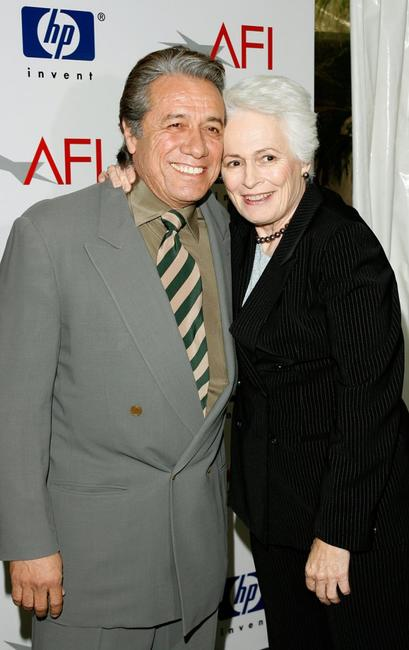 Edward James Olmos and Jean Picker Firstenberg at the Seventh Annual AFI Awards.