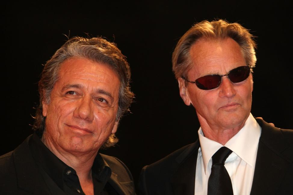 Edward James Olmos and Sam Shepard at the 64th Annual Venice Film Festival premiere of
