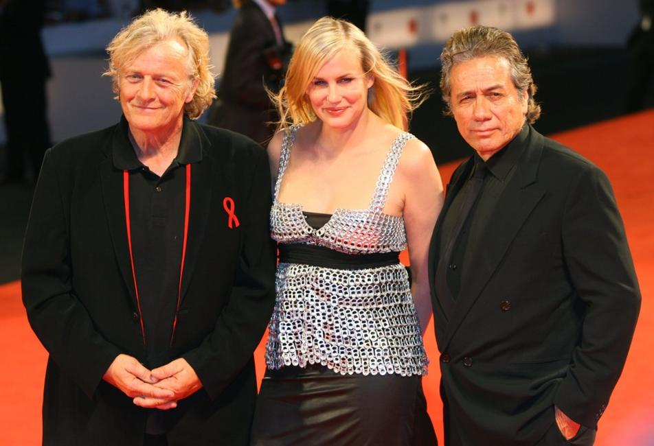 Edward James Olmos, Rutger Hauer and Daryl Hannah at the 64th Annual Venice Film Festival premiere of