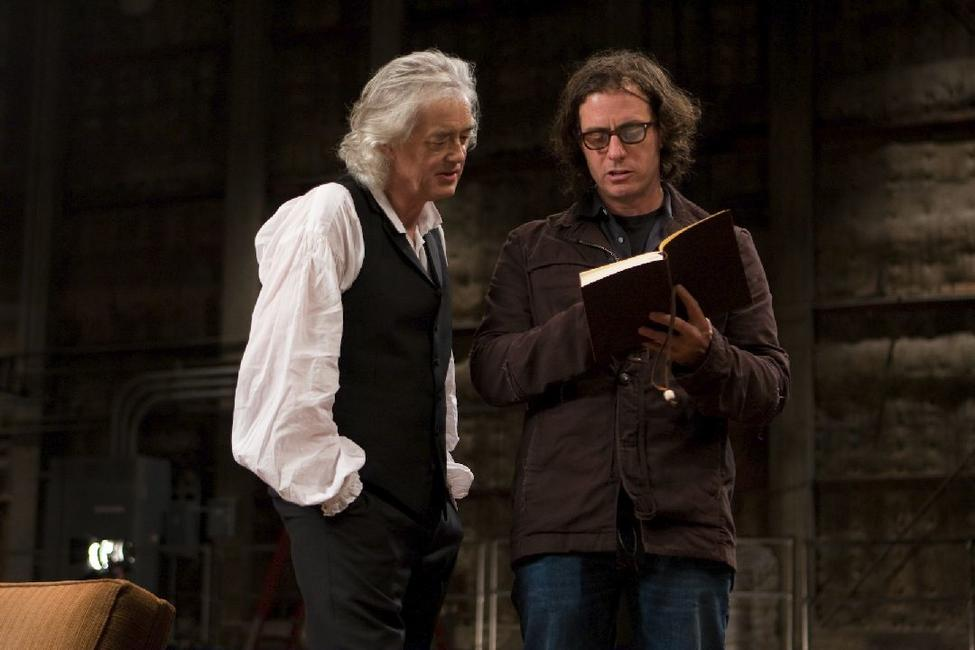 Jimmy Page and Davis Guggenheim in