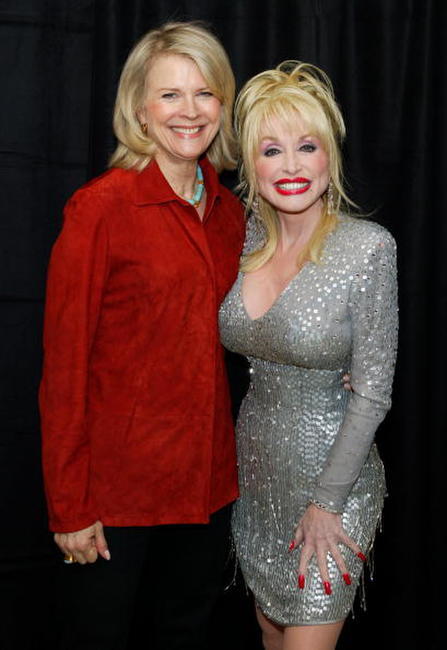 Candice Bergen and Dolly Parton at the MTV Networks UpFront.