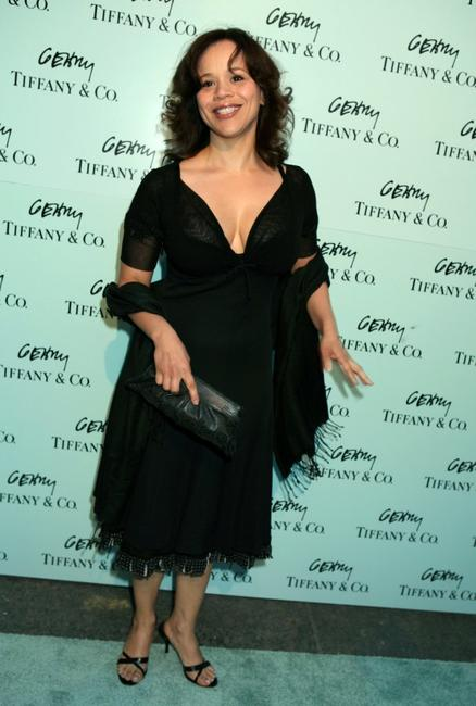 Rosie Perez at the Tiffany & Co. celebration of the launch of Frank Gehry's premier collection.