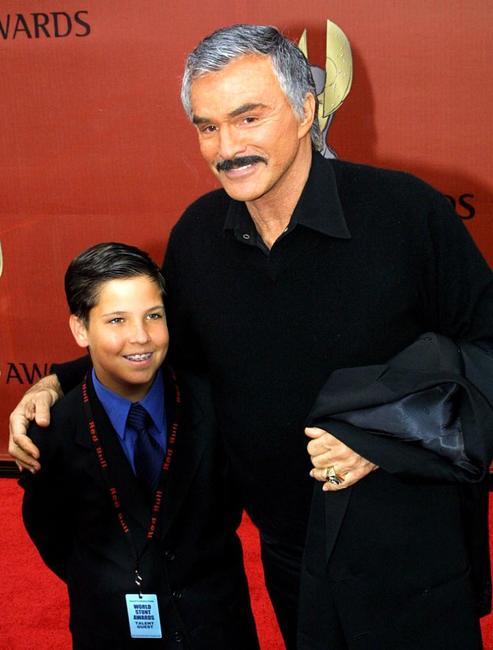 Burt Reynolds and his son Quinton at the First International World Stunt Awards.
