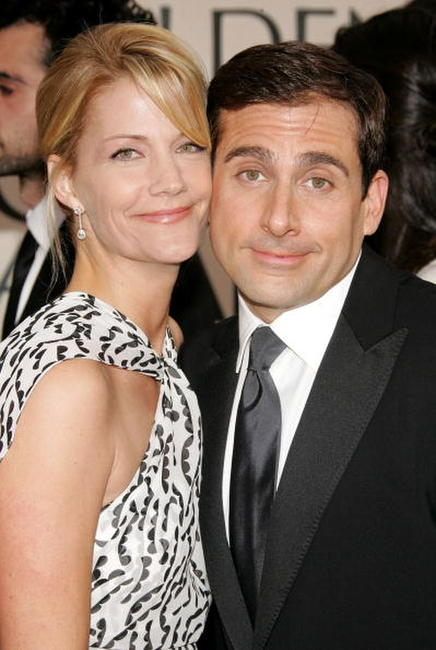 Steve Carell and wife Nancy Walls at the 63rd Annual Golden Globe Awards in Beverly Hills.