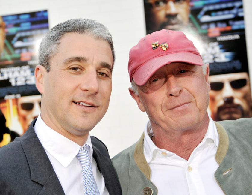 Matt Tolmach and Tony Scott at the California premiere of