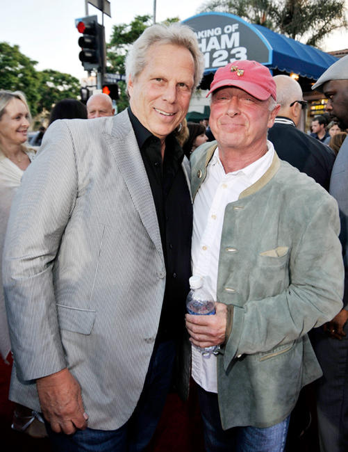 Producer Steve Tisch and Tony Scott at the California premiere of