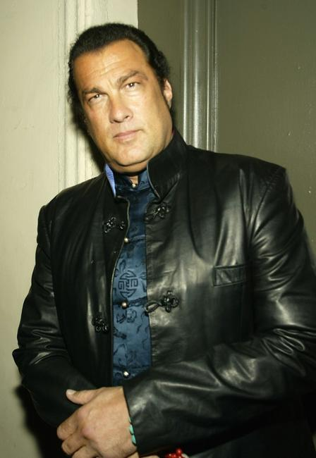 Steven Seagal at the William Morris Agency Post Grammy Party.