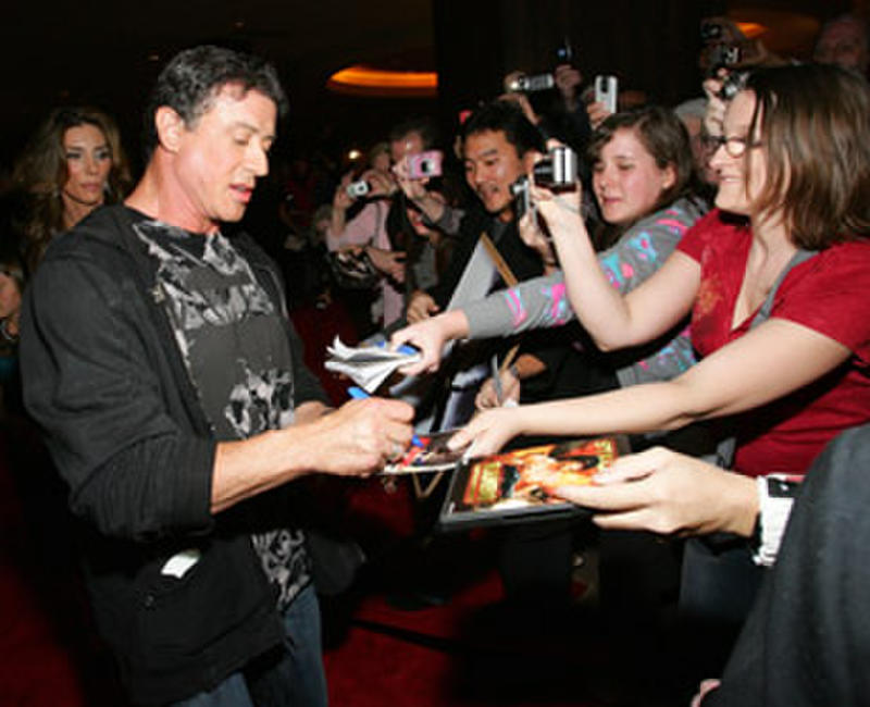 Actor/director Sylvester Stallone at the Las Vegas premiere of