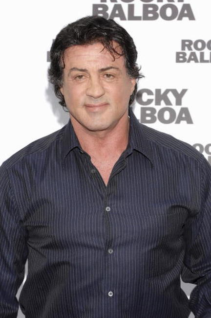 Sylvester Stallone at a photocall in Madrid for