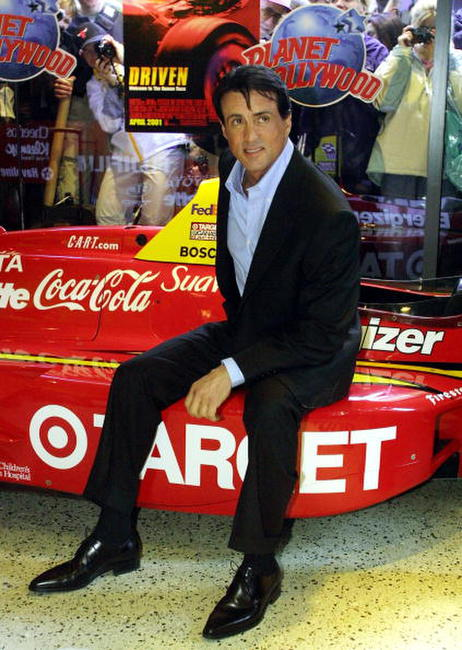 Sylvester Stallone at Planet Hollywood in N.Y.