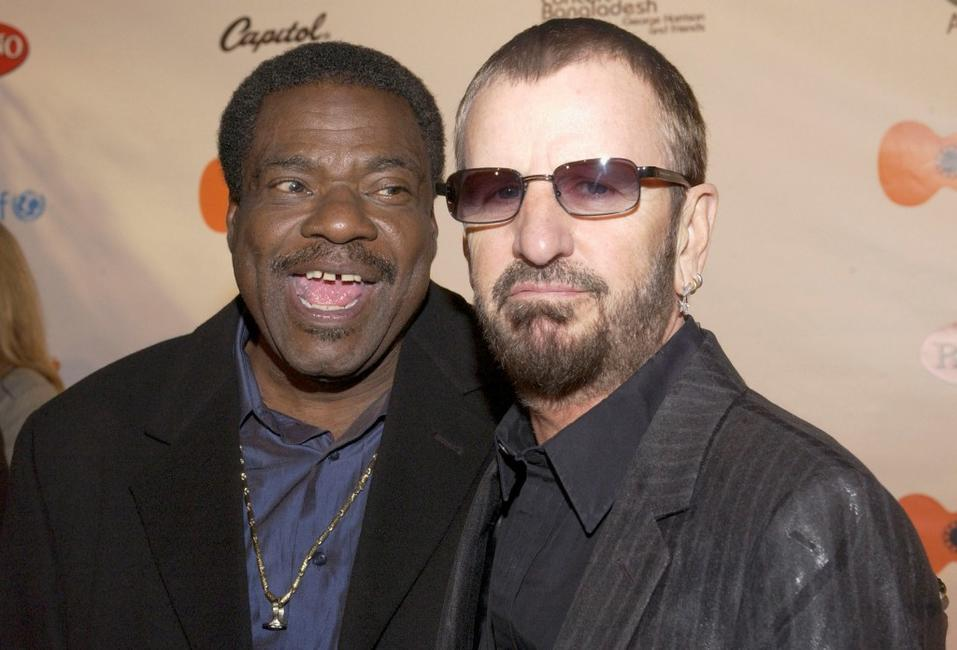 Billy Preston and Ringo Starr at the gala screening of
