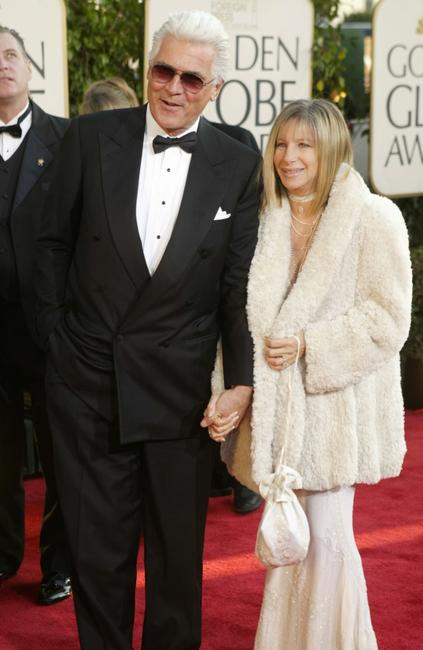 Barbra Streisand and James Brolin at the 61st Annual Golden Globe Awards.