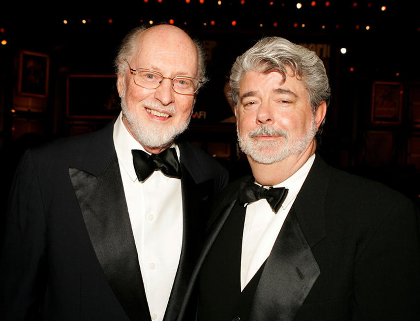 John Williams and director George Lucas at the 33rd AFI Life Achievement Award in California.