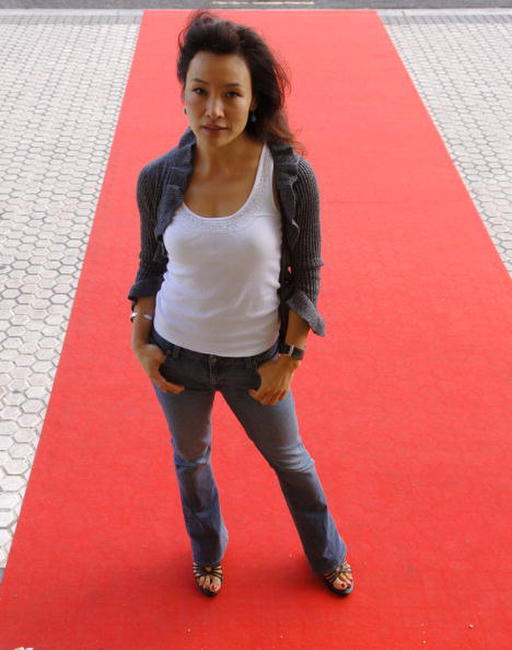 Joan Chen poses at the 53rd San Sebastian International Film Festival in San Sebastian, Spain.