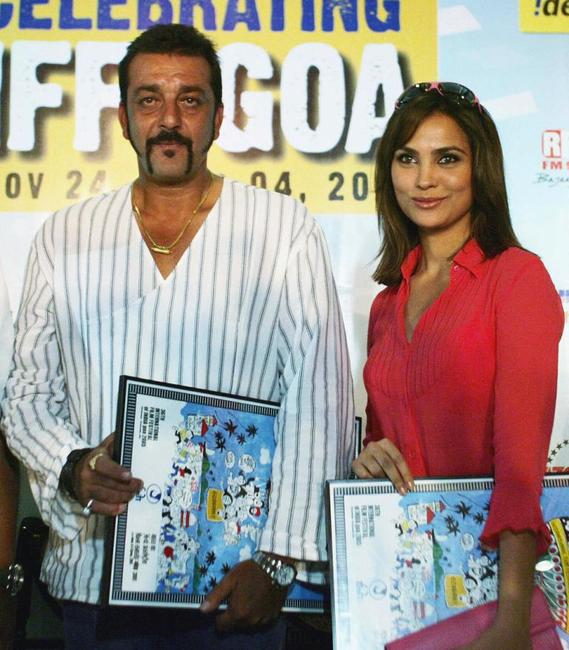 Sanjay Dutt and Lara Dutta at the 36th Annual International Film Festival of India.